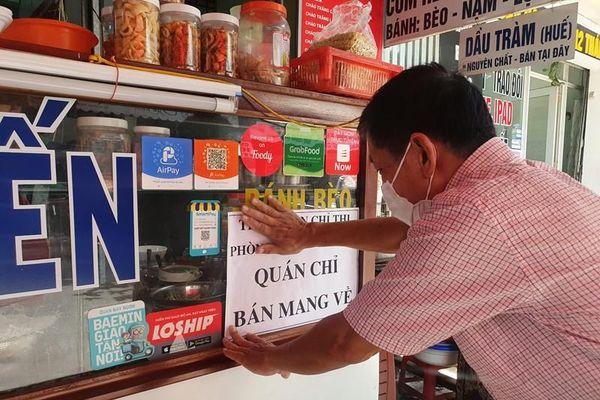 Nhiều quán tại Đà Nẵng treo bảng chỉ bán mang về
