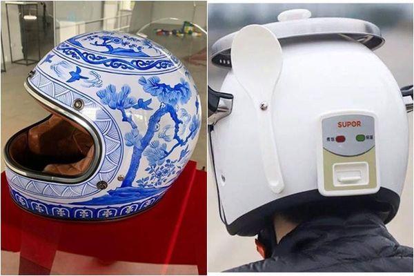 Cười 'ná thở' với loạt mũ bảo hiểm được netizen truyền tay nhau