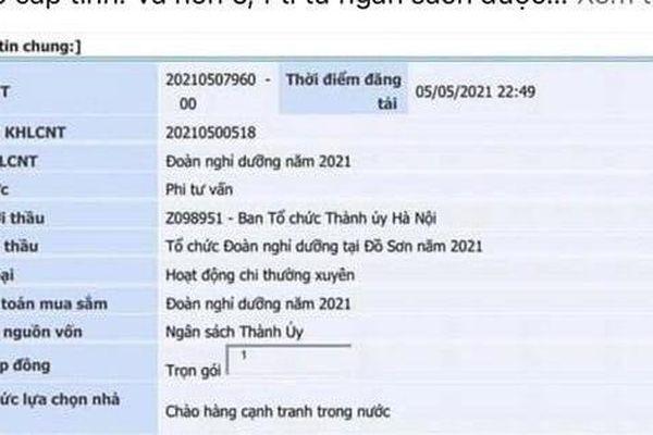 Hà Nội thông tin về việc 'đấu thầu dịch vụ nghỉ dưỡng' bị bóp méo trên mạng xã hội