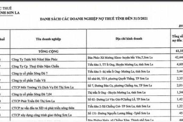 Sơn La công khai 24 doanh nghiệp nợ thuế, Mỏ Nikel Bản Phúc nợ tới 42 tỷ