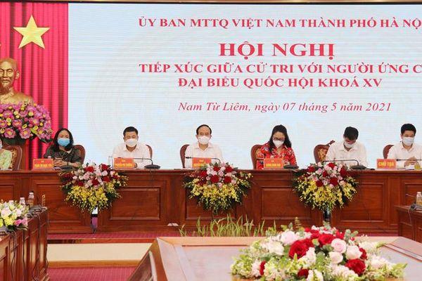 Người ứng cử đại biểu Quốc hội khóa XV tiếp xúc cử tri quận Nam Từ Liêm