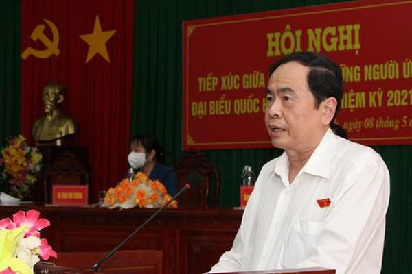 Phó Chủ tịch Thường trực Quốc hội Trần Thanh Mẫn tiếp xúc cử tri tại Hậu Giang