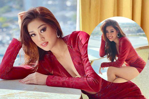 Khánh Vân đốt cháy cái nắng Florida với set đồ khoét cổ sâu: Xứng danh Miss Fashion tại Hoa hậu Hoàn vũ