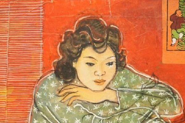 Độc đáo tranh lụa Linh Chi