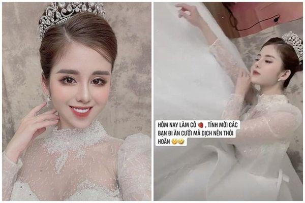 Hậu ly hôn, vợ cũ Huy Cung đăng ảnh váy cưới gây hoang mang