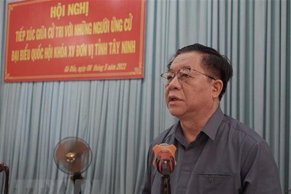 Trưởng Ban Tuyên giáo TW tiếp xúc cử tri, vận động bầu cử ở Tây Ninh