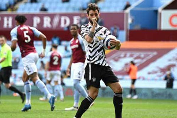 Fernandes lập chiến tích phạt đền ở MU, cân bằng kỷ lục ghi bàn của Lampard