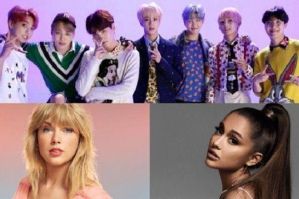 BTS sẽ có cuộc đối đầu với Ariana Grande và Taylor Swift tại lễ trao giải điện ảnh & truyền hình MTV 2021