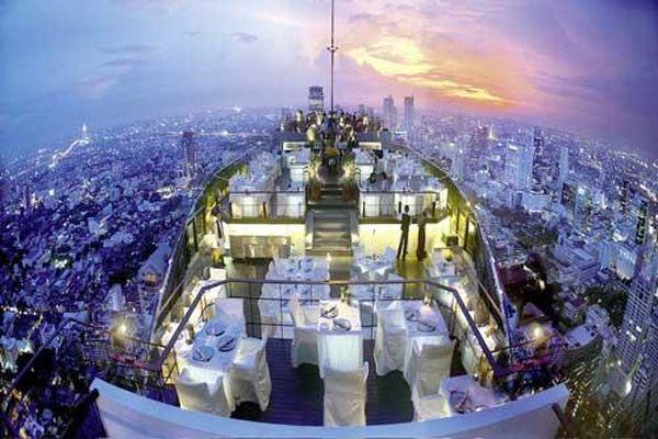 Top 10 nhà hàng trên tầng thượng có tầm nhìn đẹp nhất thế giới