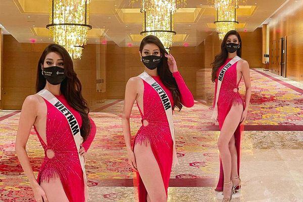 Khánh Vân chơi bạo với chiếc váy xẻ quá hông nhưng ý nghĩa bộ đầm mới làm fan tấm tắc