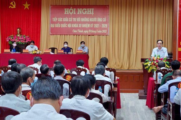 Ứng cử viên đại biểu Quốc hội khóa XV tại nhiều địa phương tiếp xúc cử tri