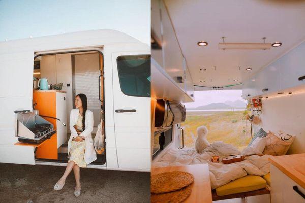 Mê du lịch mà muốn tiết kiệm, cặp đôi tự xây nhà di động giá hơn nửa tỷ cực xịn