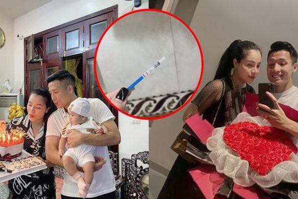 Vợ trung vệ Bùi Tiến Dũng báo tin vui, cầu thủ CLB Viettel sắp trở thành ông bố 2 con