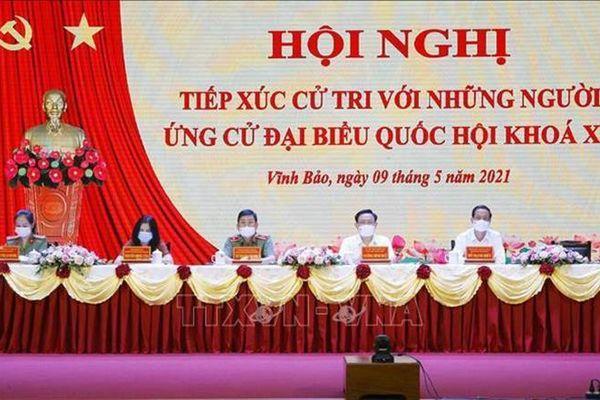 Chủ tịch Quốc hội Vương Đình Huệ: Hứa sẽ sát cánh, đồng hành với cử tri và nhân dân