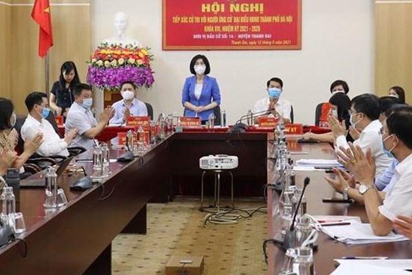 Phó Chủ tịch HĐND TP Phùng Thị Hồng Hà tiếp xúc cử tri huyện Thanh Oai