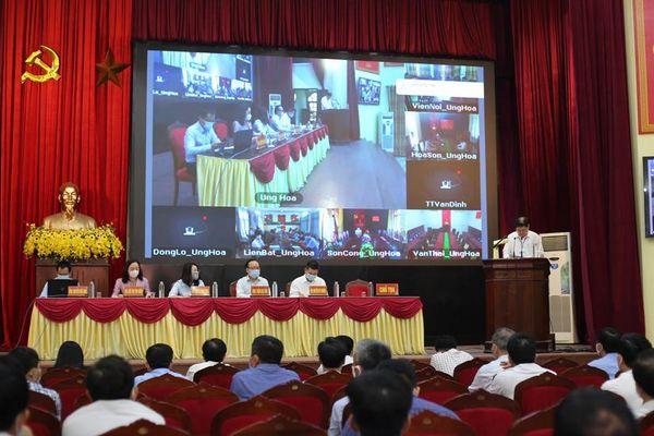Người ứng cử đại biểu HĐND thành phố Hà Nội tiếp xúc cử tri huyện Ứng Hòa