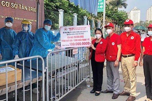 Hội Chữ thập đỏ Việt Nam hỗ trợ Bệnh viện K Tân Triều chống dịch