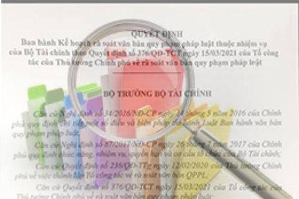 Bộ Tài chính triển khai kế hoạch rà soát văn bản pháp luật