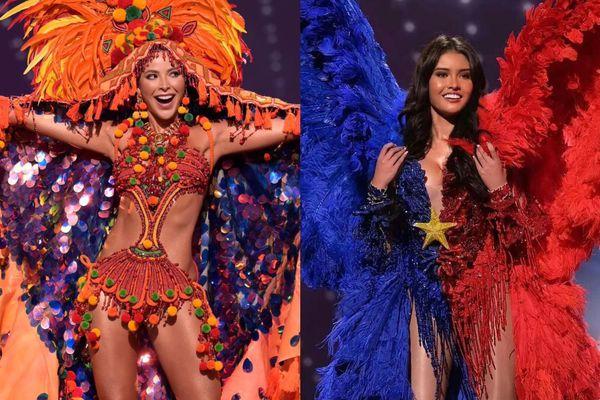 Màn trình diễn trang phục dân tộc của thí sinh Hoa hậu Hoàn vũ 2020