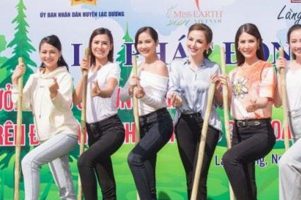 Hoa hậu Diễm Hương và dàn mỹ nhân cùng trồng 50 triệu cây xanh