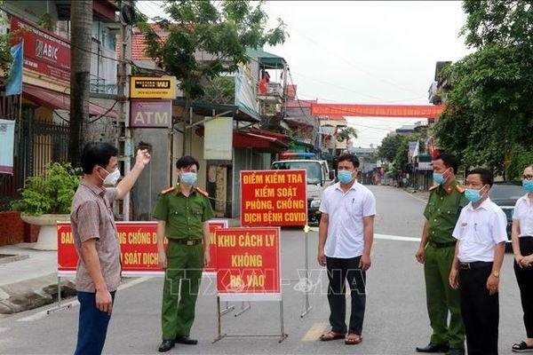 Giãn cách xã hội 3 xã ở Nam Định liên quan đến bệnh nhân COVID-19
