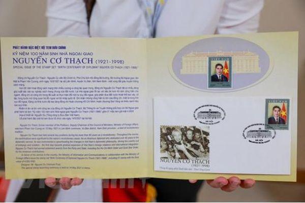 Phát hành một bộ tem về nhà ngoại giao Nguyễn Cơ Thạch