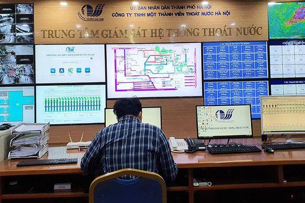 Hà Nội nâng cấp công nghệ phục vụ điều hành thoát nước mùa mưa
