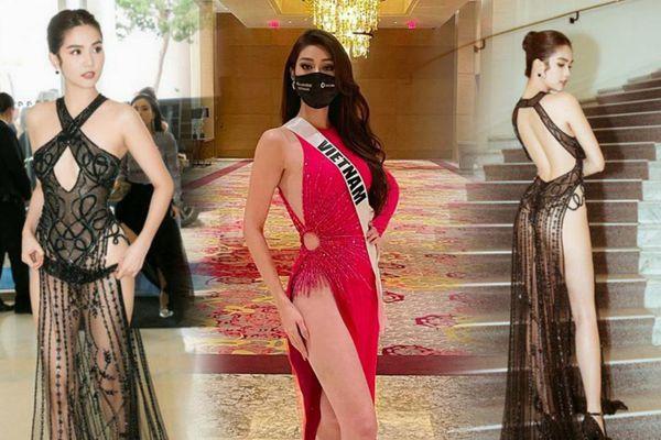 Khánh Vân, Ngọc Trinh mang váy xẻ siêu cao 'gây bão' truyền thông quốc tế