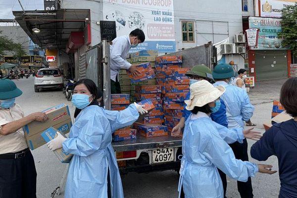Việt Yên: Bảo đảm nhu yếu phẩm cho công nhân vùng cách ly
