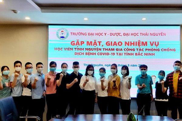 Học viên, sinh viên ngành Y Đại học Thái Nguyên tham gia chống dịch Covid-19