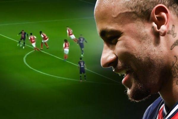 Neymar đánh gót loại 4 cầu thủ đối phương
