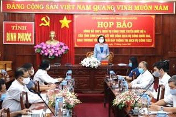 Bình Phước trở thành địa phương dẫn đầu cả nước về kết nối Cổng dịch vụ công Quốc gia