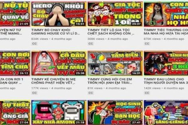 Cục Trẻ em đề nghị xóa, gỡ kênh TIMMY TV trên YouTube, Facebook
