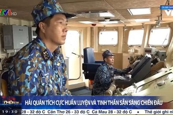 Hải quân Nhân dân Việt Nam tích cực huấn luyện, sẵn sàng chiến đấu