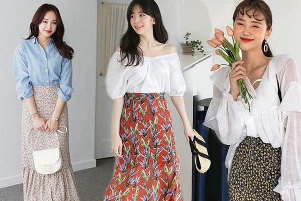 5 cách phối đồ siêu đẹp với chân váy hoa