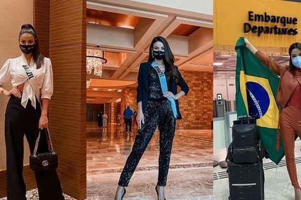 Á hậu 1 Miss Universe Julia Gama đi thi Hoa hậu với tủ đồ kín đáo như nhân viên công sở