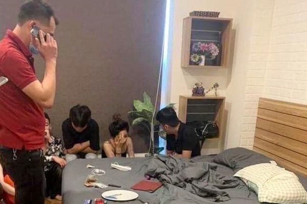 8 nam, nữ có biểu hiện sử dụng ma túy tại căn hộ chung cư Newlife tower, phường Bãi Cháy