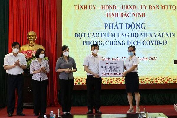 EVNNPC ủng hộ 1 tỷ đồng giúp 2 tỉnh Bắc Giang và Bắc Ninh phòng, chống dịch Covid-19