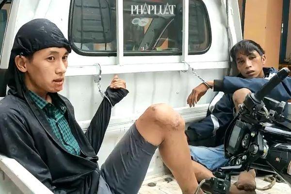 Người dân vây bắt 2 kẻ trộm xe liên tỉnh ở vùng ven