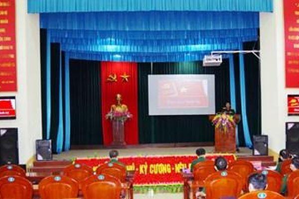 Bộ CHQS tỉnh Sơn La tổ chức Hội thi Báo cáo viên giỏi năm 2021