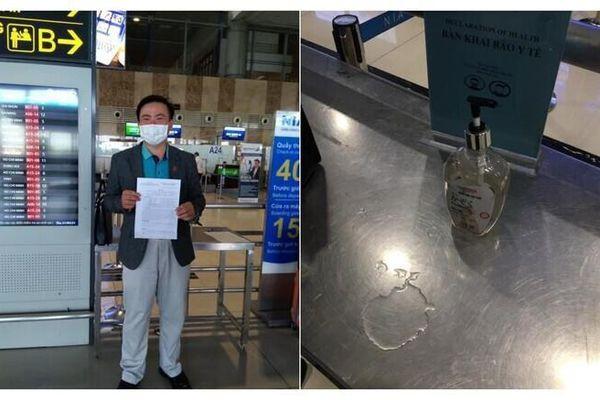 Cảng hàng không quốc tế Nội Bài bác tin dùng nước lã làm dung dịch sát khuẩn