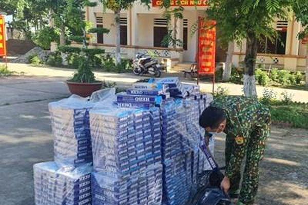 Bộ đội Biên phòng An Giang: Liên tiếp bắt 03 vụ buôn lậu trong đêm, thu giữ hơn 6.000 gói thuốc lá
