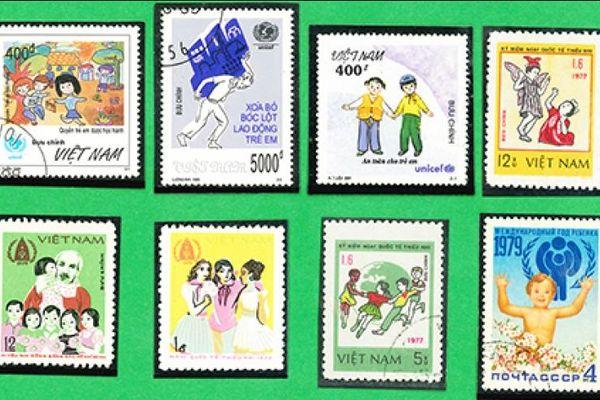 Các bộ tem 'Vì trẻ em Việt Nam'