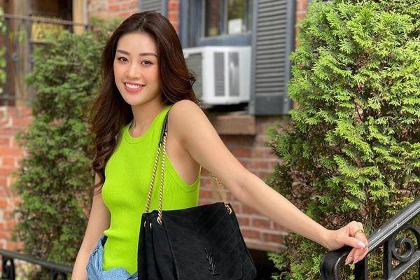 Vì sao Khánh Vân hay mặc đồ xanh lá sau Miss Universe?
