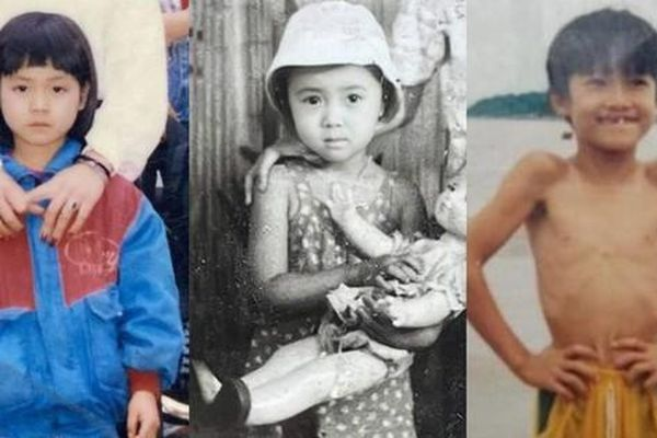 Hồng Diễm, Lương Thu Trang khoe ảnh thơ ấu cực xinh, dàn sao để lại bình luận hài hước