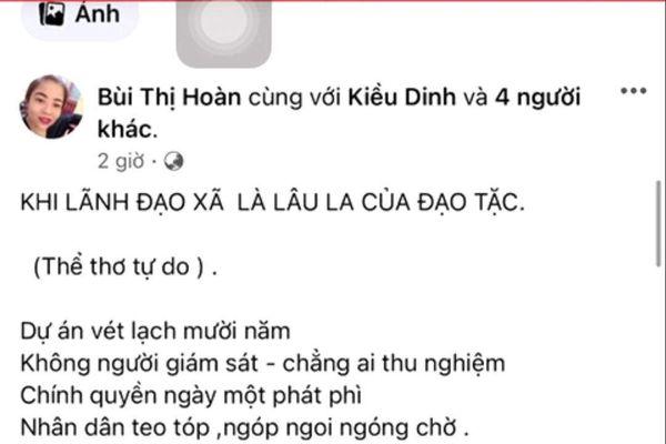 Quảng Ninh: Xác minh việc lãnh đạo xã bị vu khống, bôi nhọ trên mạng xã hội