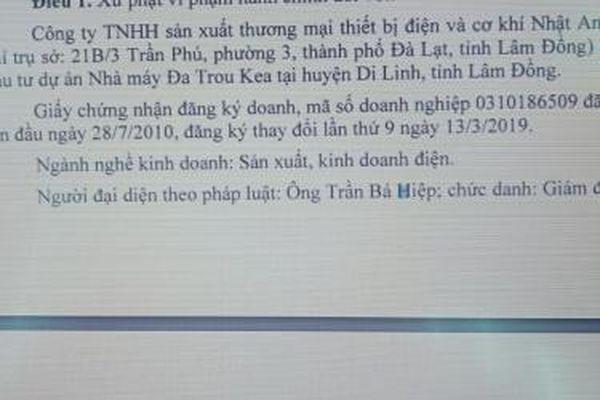 2 doanh nghiệp ở Lâm Đồng khai thác, sử dụng nước mặt trái phép để phát điện