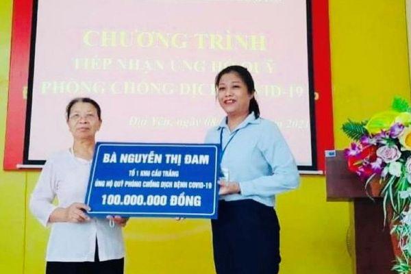 Cụ bà 76 tuổi ủng hộ 100 triệu đồng cho Quỹ phòng chống dịch bệnh Covid-19