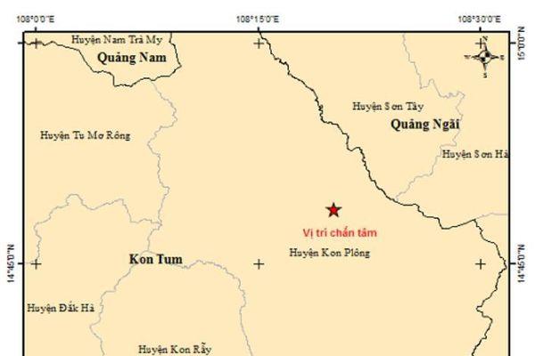 Hai tháng xảy ra 40 trận động đất ở Kon Tum