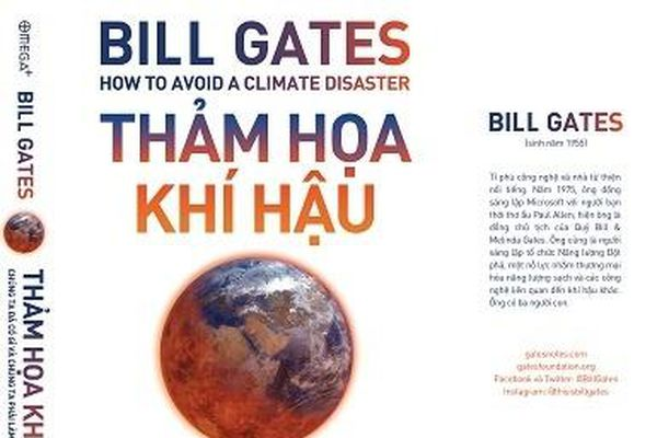 Tỷ phú Bill Gates ra sách về chủ đề biến đổi khí hậu